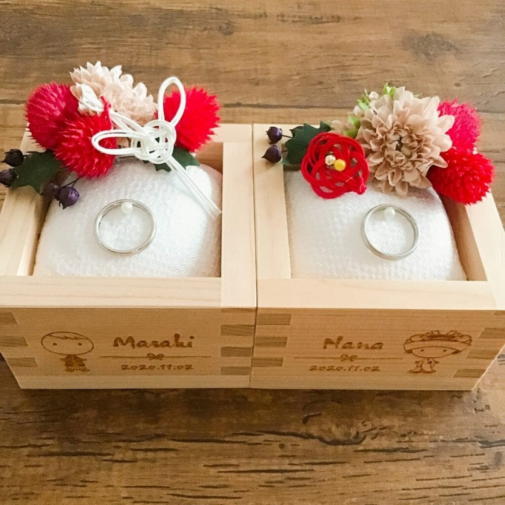 枡のリングピローの作り方 -花嫁さま応援!手作り和風リングピロー-