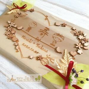 簡単☆手作りウェルカムボード☆木製ウェルカムボードのアレンジ